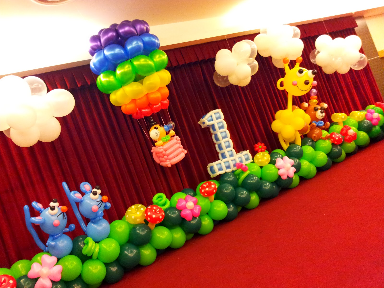 Smooth party rb planners for Balloon decoration for kids party
