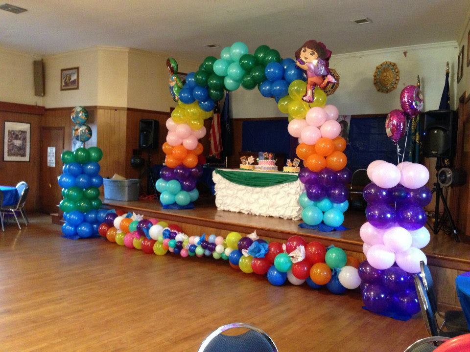 Balloon decoration for party party favors ideas for Home sweet home party decorations