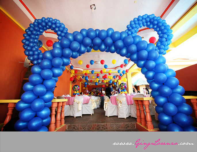Balloon decorations for birthday party favors ideas for Balloon decoration london