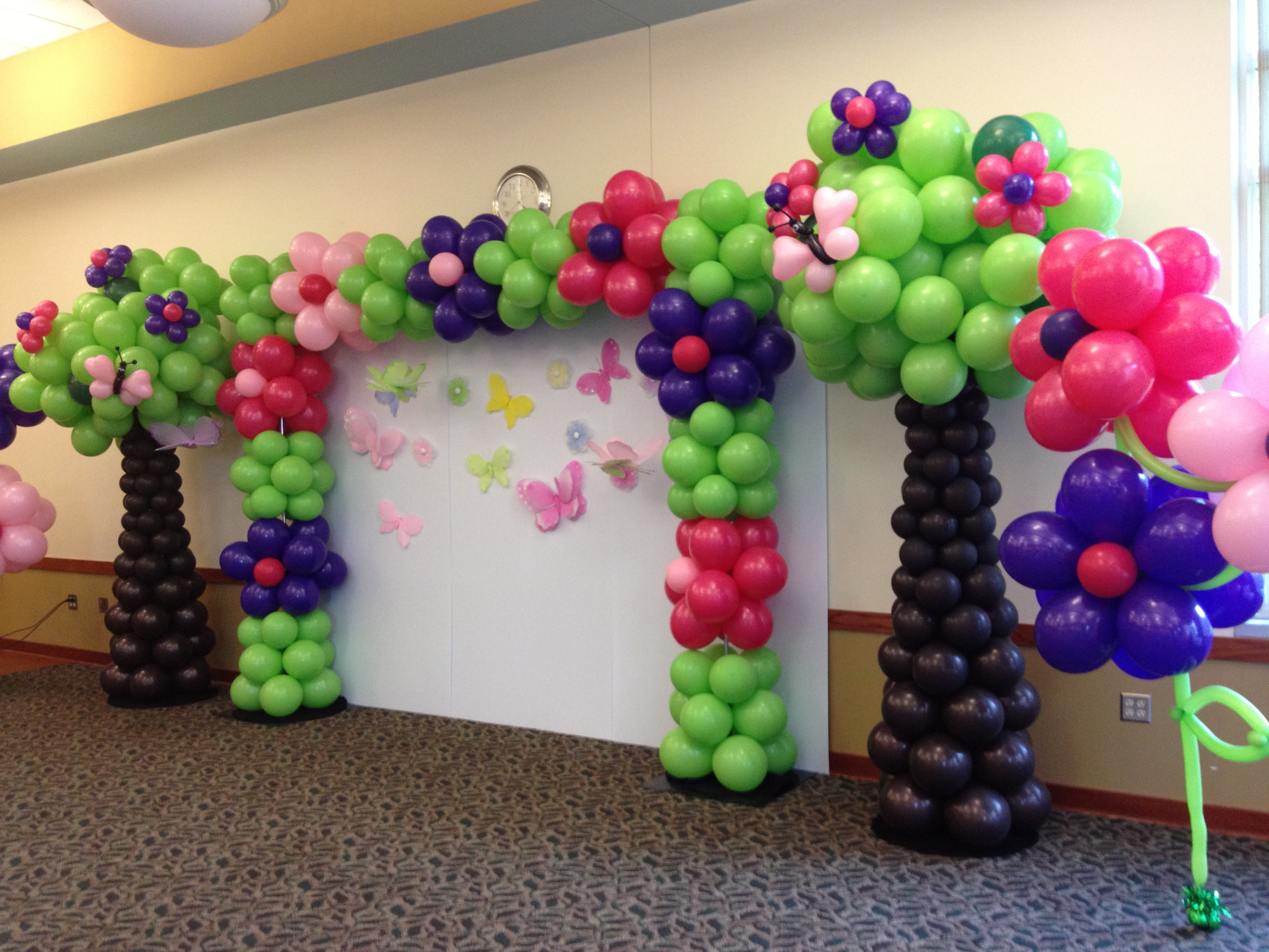 Balloon arches rb planners for Arch balloon decoration