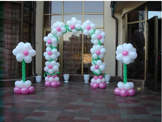 balloon decorating ideas ceiling - Spring Themed Parties Flower Balloons and Arches RB